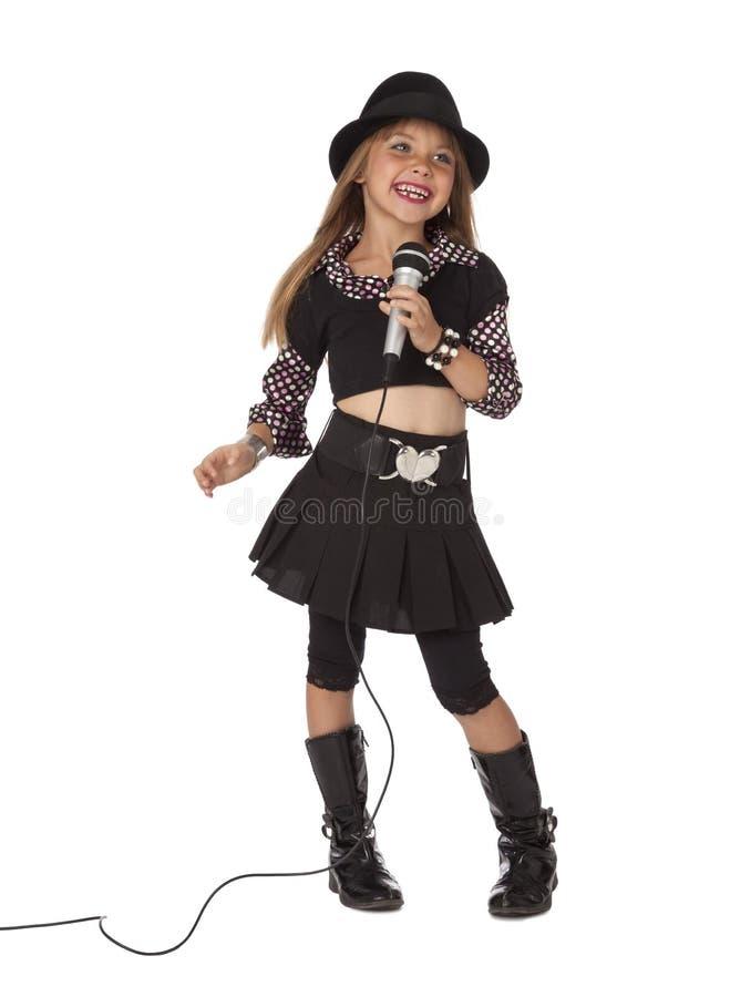 时髦儿童的歌唱家 免版税库存图片