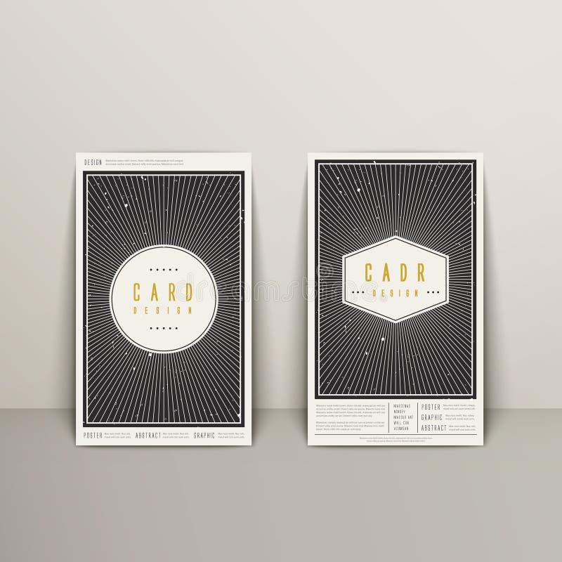 时髦几何元素名片设计 皇族释放例证