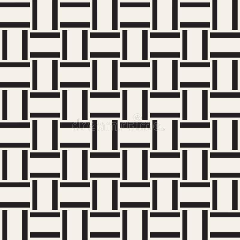 时髦单色斜纹组织格子 抽象几何背景设计 模式无缝的向量 库存例证