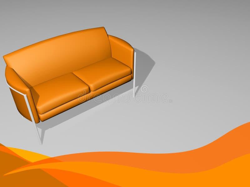 时髦寒冷的家具的沙发花费时间 皇族释放例证