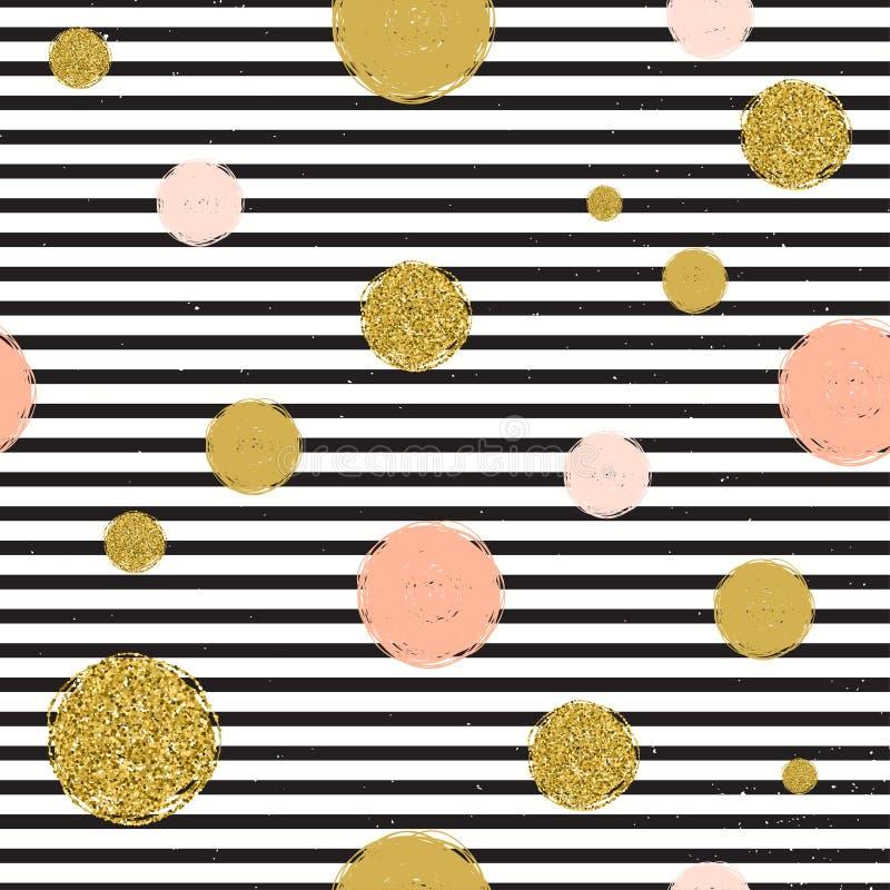 时髦斑点颜色传染媒介无缝的样式 向量例证