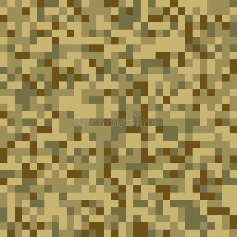 时髦无缝的数字式映象点伪装样式 向量例证
