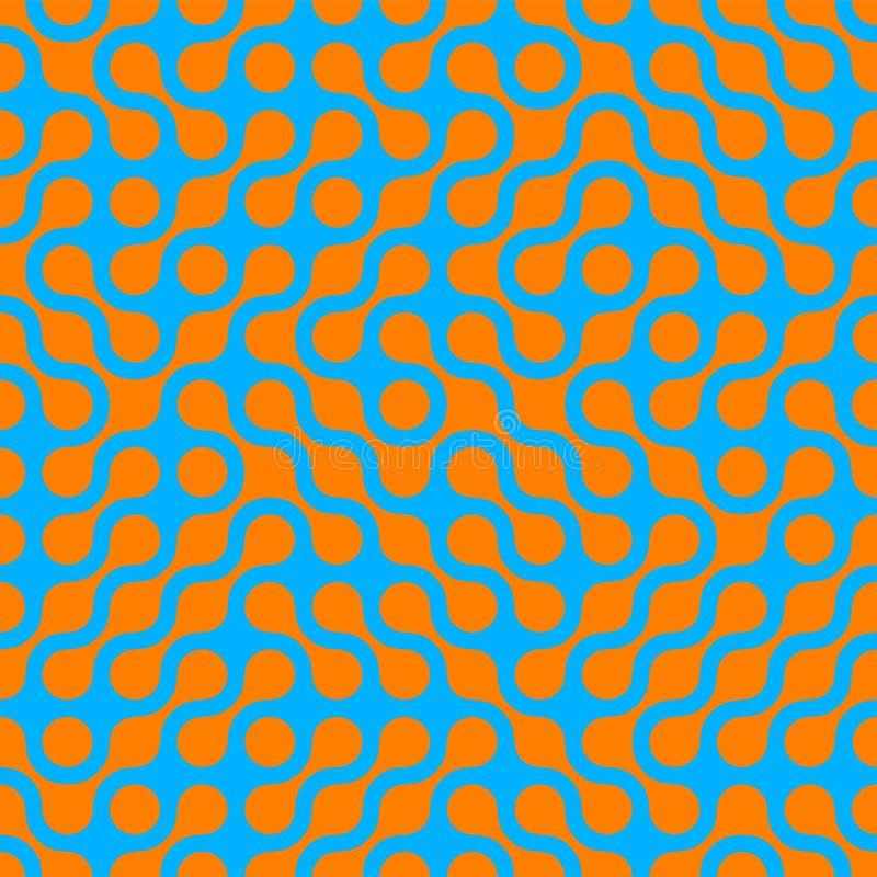 时髦现代数字技术的抽象半音无缝的样式背景 向量例证