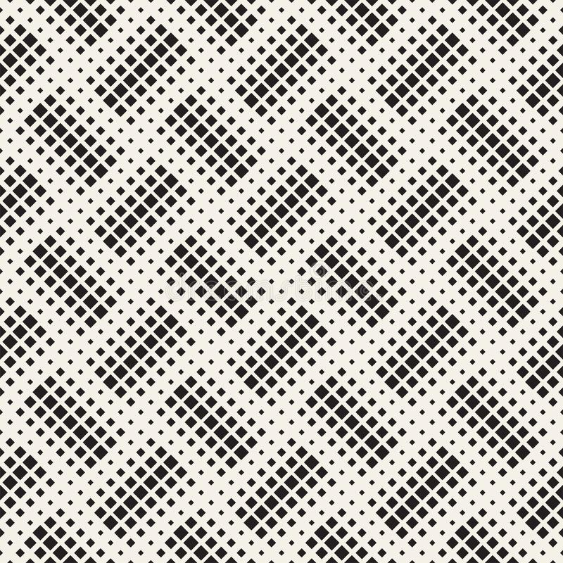 时髦的半音纹理 与任意大小形状的不尽的抽象背景 传染媒介无缝的马赛克样式 库存例证