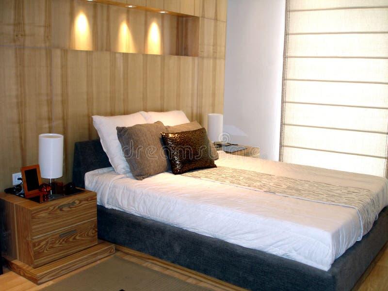 时髦的卧室 免版税库存图片
