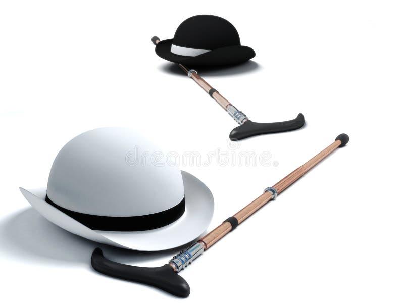 时髦的圆顶硬礼帽 库存例证