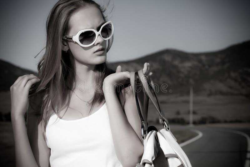 时髦的女孩 免版税库存照片