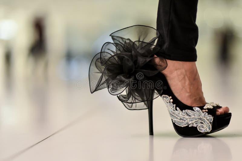 时髦的妇女的设计高跟鞋鞋子 免版税库存照片
