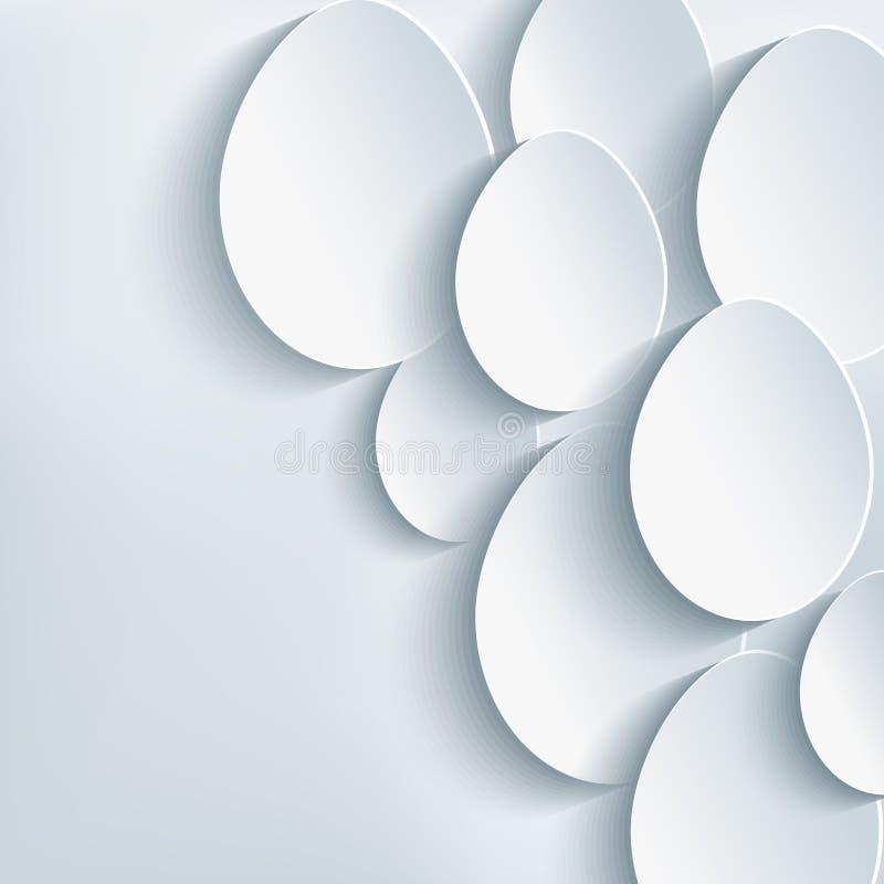 时髦的抽象背景用复活节彩蛋 库存例证