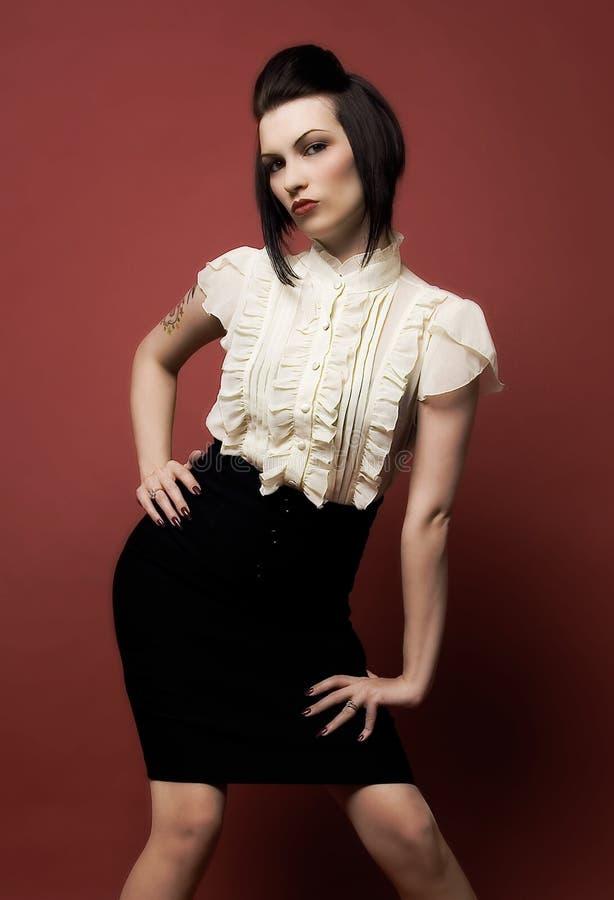 时髦的时装模特儿 免版税库存图片