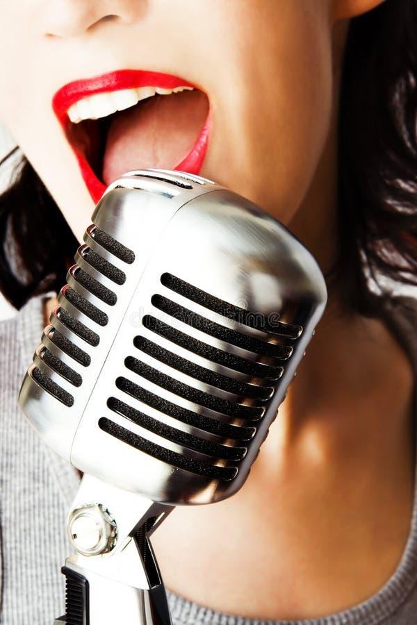 时髦的歌唱家 库存照片