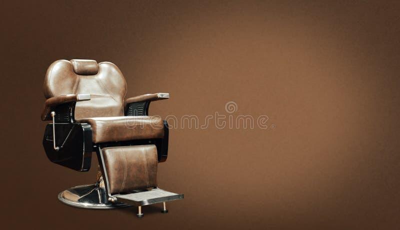 时髦的葡萄酒理发椅 库存照片