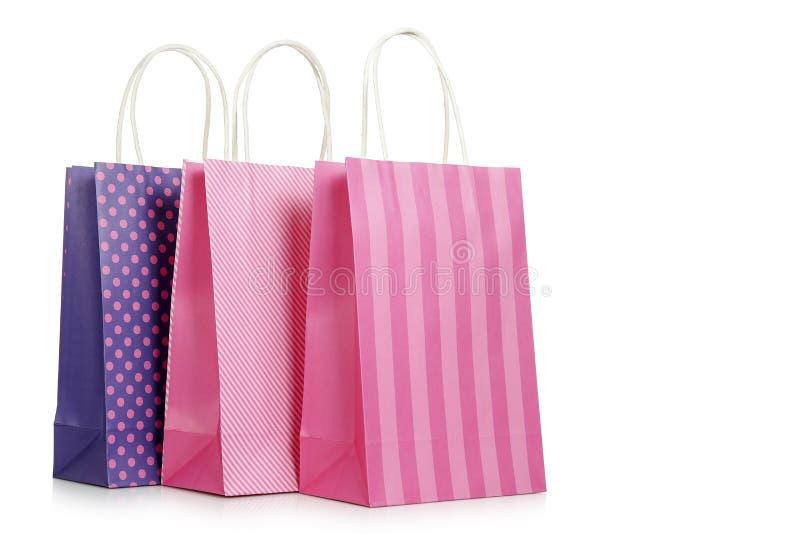 时髦的购物袋 免版税库存图片