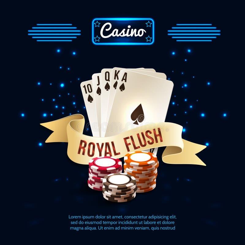 时髦的赌博娱乐场现实构成 向量例证