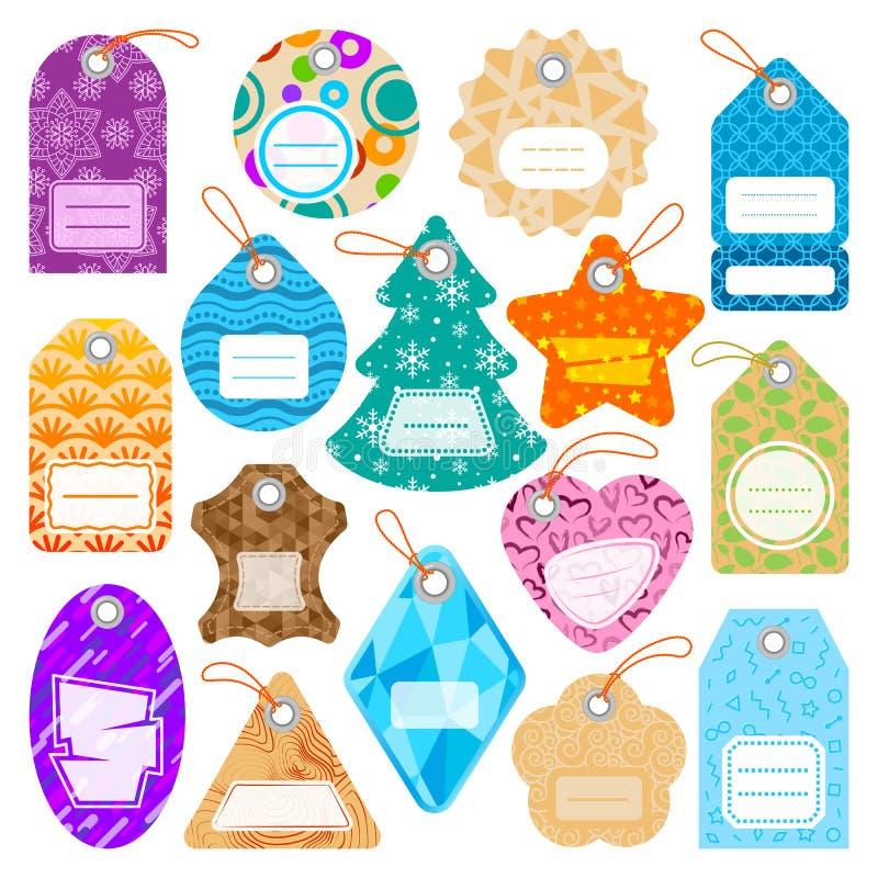 时髦的价格给与样式销售卡片贴纸汇集纸空白企业促进徽章传染媒介的标记穿衣 皇族释放例证