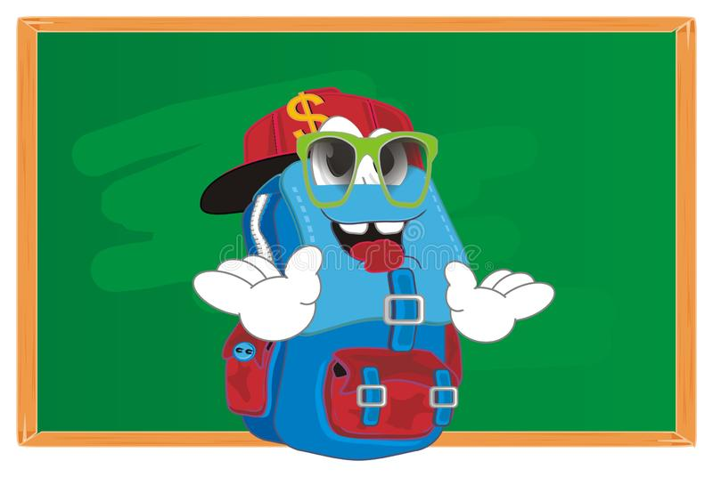 时髦背包在教室 皇族释放例证