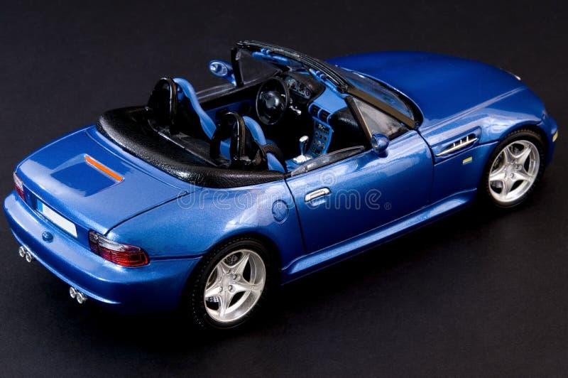 时髦蓝色covertible的跑车 库存照片