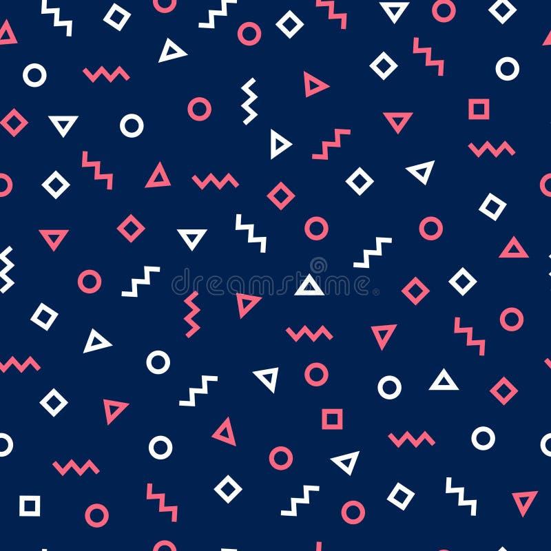 时髦行家几何无缝的样式设计 现代的传染媒介 向量例证