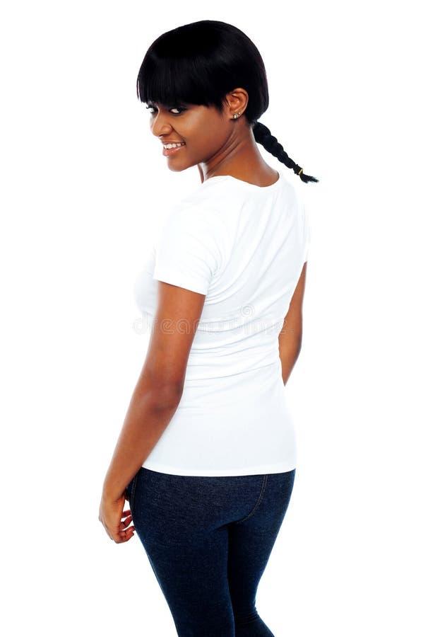 时髦非洲逗人喜爱的女孩 免版税库存图片