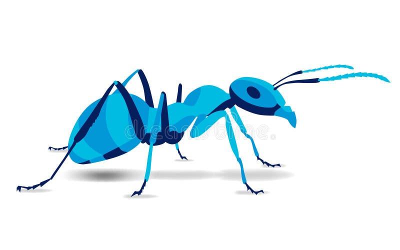 时髦风格化例证,蚂蚁, pismire,线传染媒介剪影, 皇族释放例证