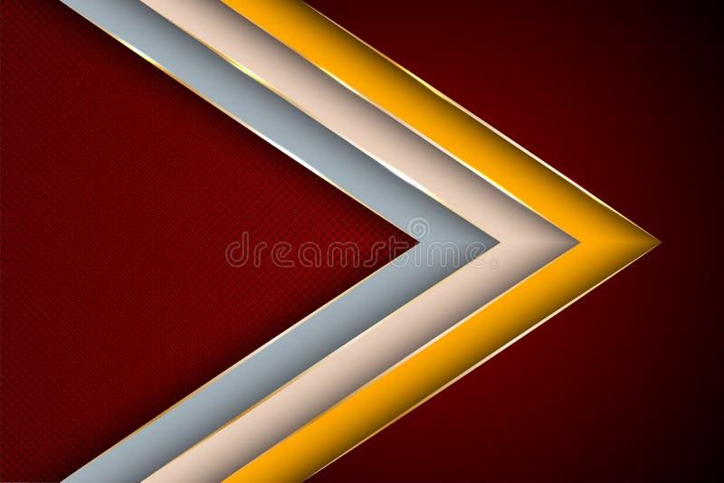 时髦,海报背景模板 空白的横幅布局设计 库存例证