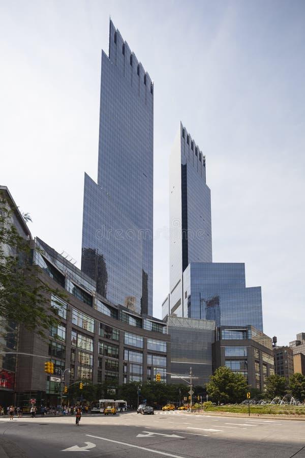 时代华纳中心在纽约,社论 库存照片