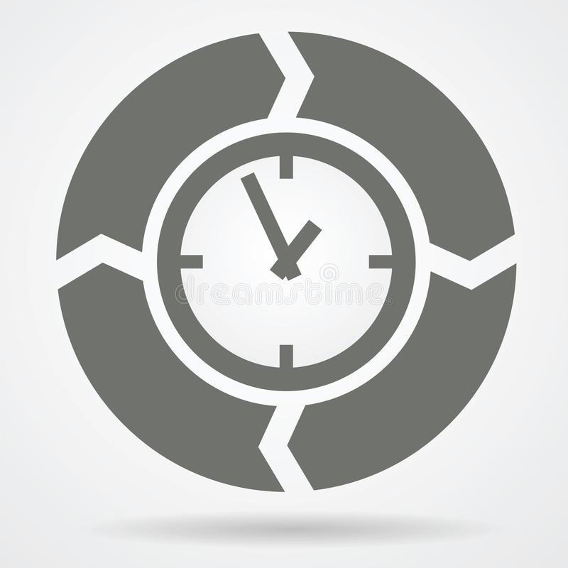 时间周期网象 向量例证