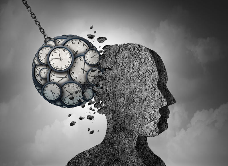 时间和重音 向量例证