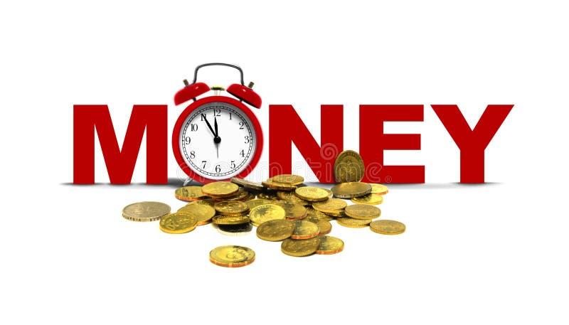 时间和金钱概念 皇族释放例证