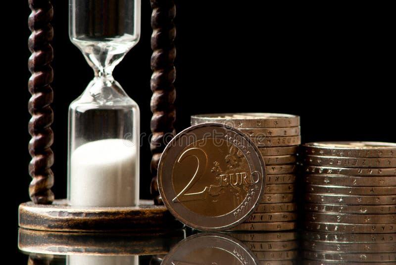 时间和金钱 库存照片