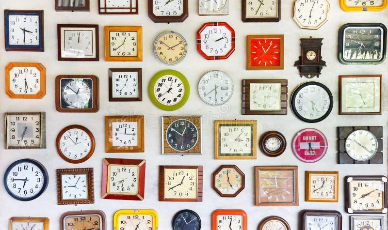 时间墙壁  库存照片
