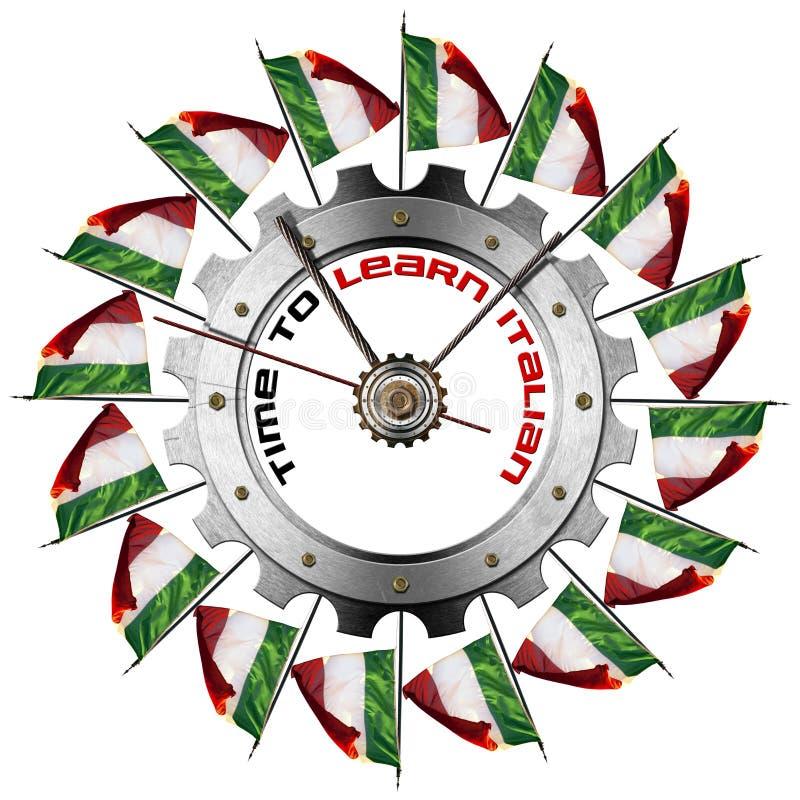 时刻学会意大利语-金属齿轮 皇族释放例证
