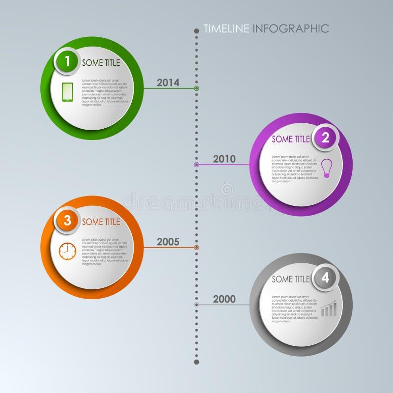时间安排信息图表圆的模板 皇族释放例证