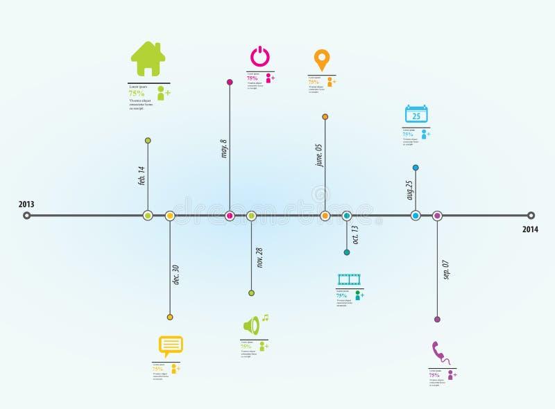 时间安排信息图表 库存例证