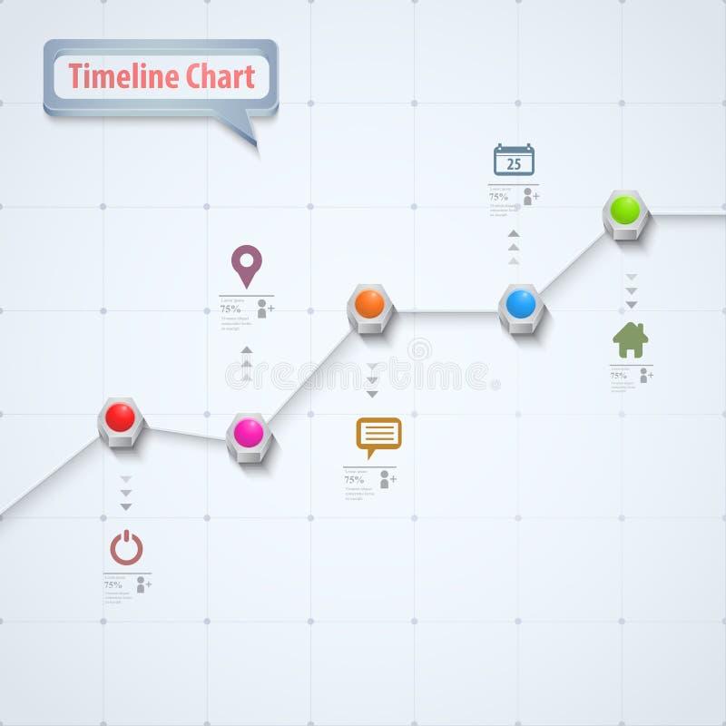 时间安排信息图表 向量例证