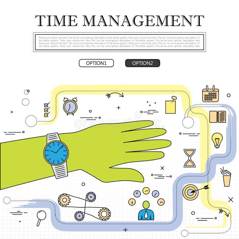 时间安排向量图形的概念线描  库存例证