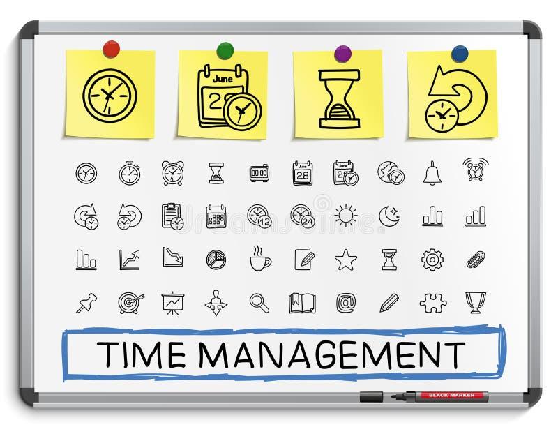 时间安排手图画线象 库存例证