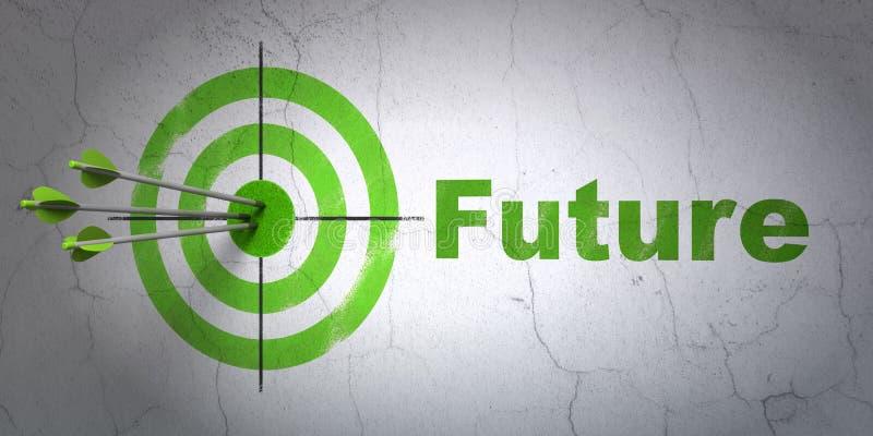 时间安排概念:目标和未来在墙壁上 库存例证
