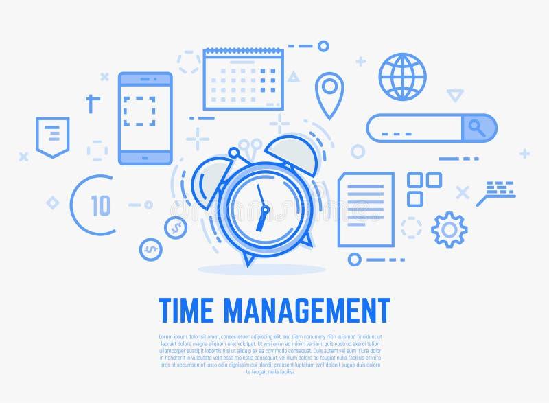 时间安排闹钟 库存例证