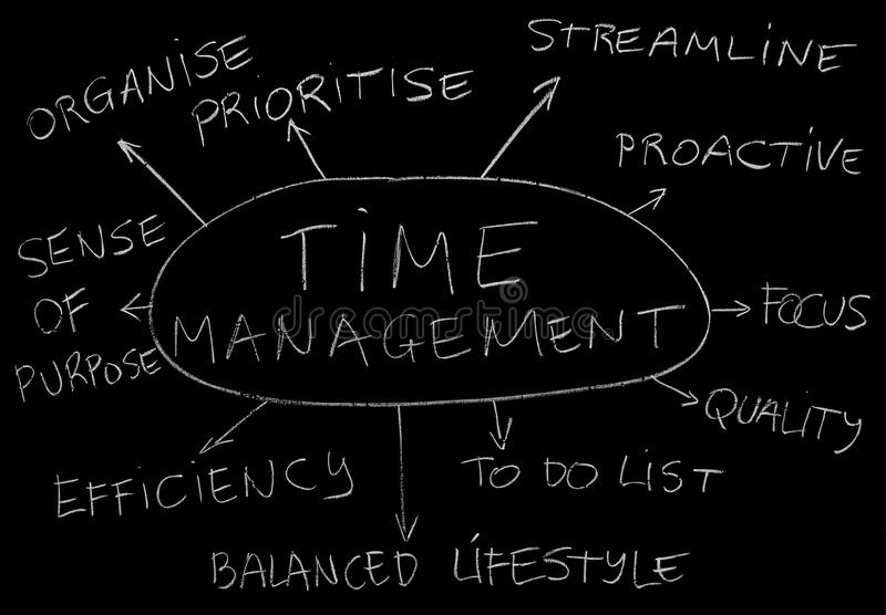时间安排 向量例证