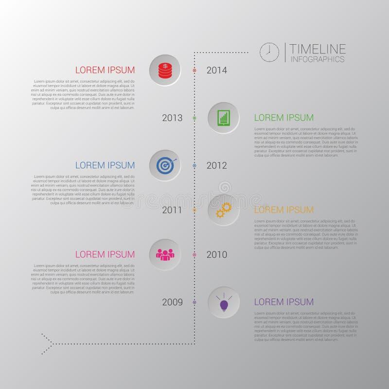 时间安排Infographic 与象的企业模板 向量 皇族释放例证