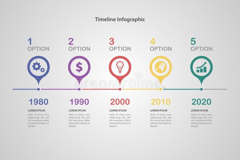 时间安排Infographic 向量例证