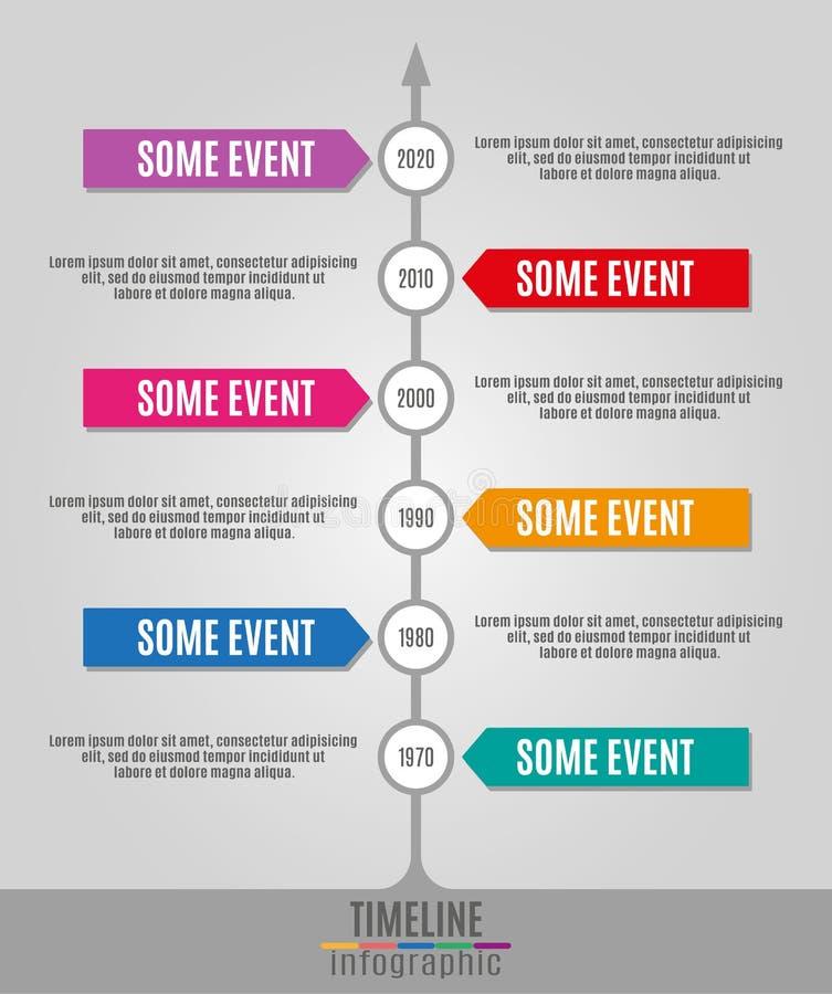 时间安排Infographics垂直 库存例证