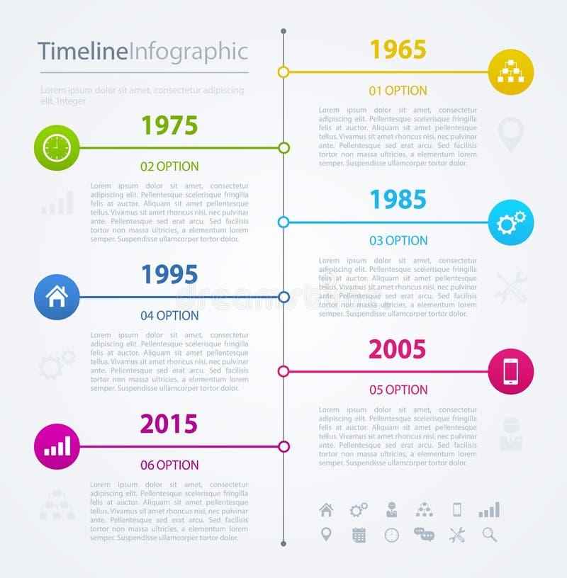 时间安排infographics设计模板,传染媒介例证 向量例证