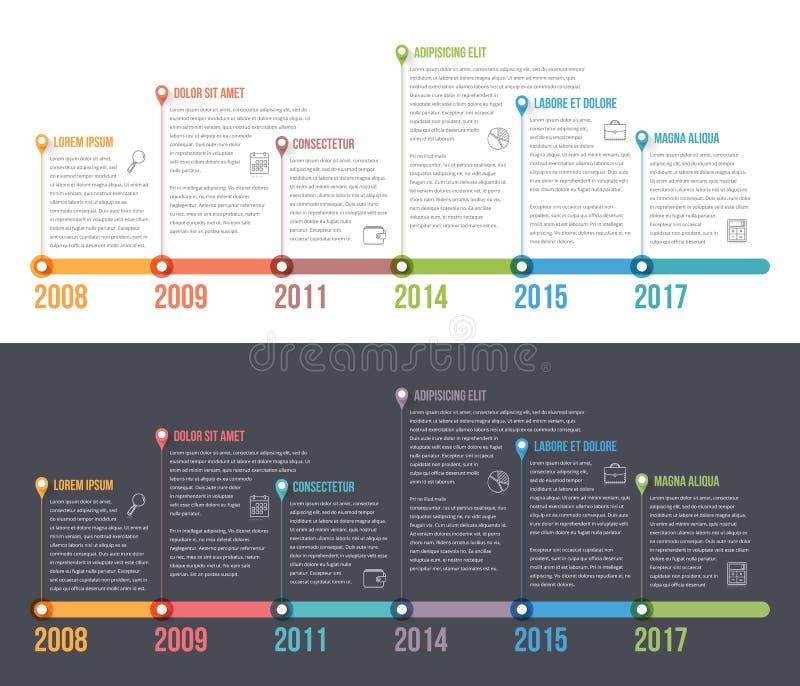 时间安排Infographics 向量例证