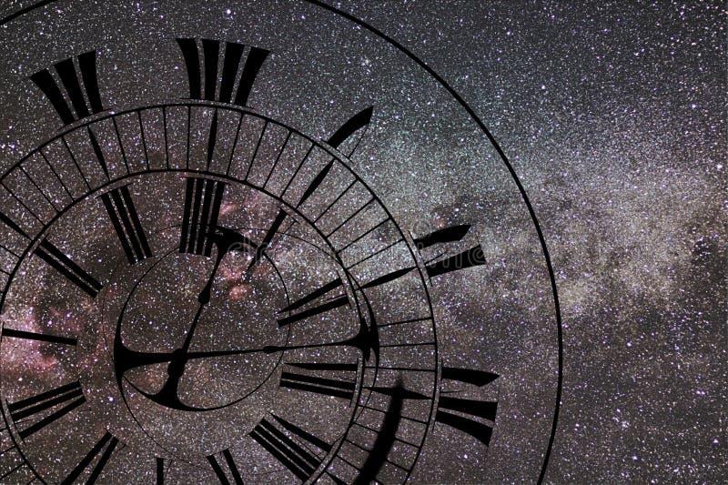时间异常 时间和空间,广义相对论 库存照片