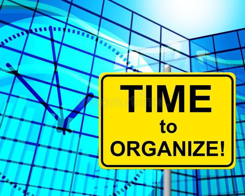 时刻当时组织手段和安排 向量例证