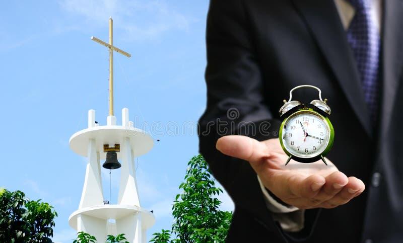 时刻去教会 免版税库存图片