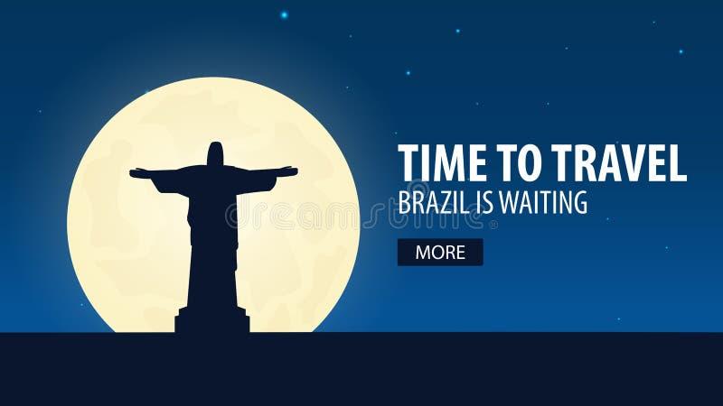 时刻旅行 旅行向巴西 巴西等待 也corel凹道例证向量 向量例证