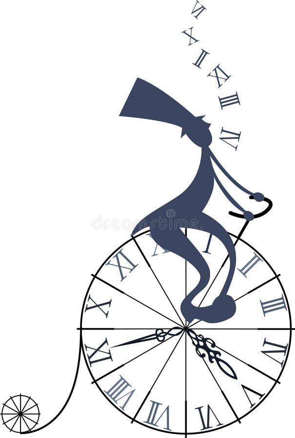 时间旅行 库存例证